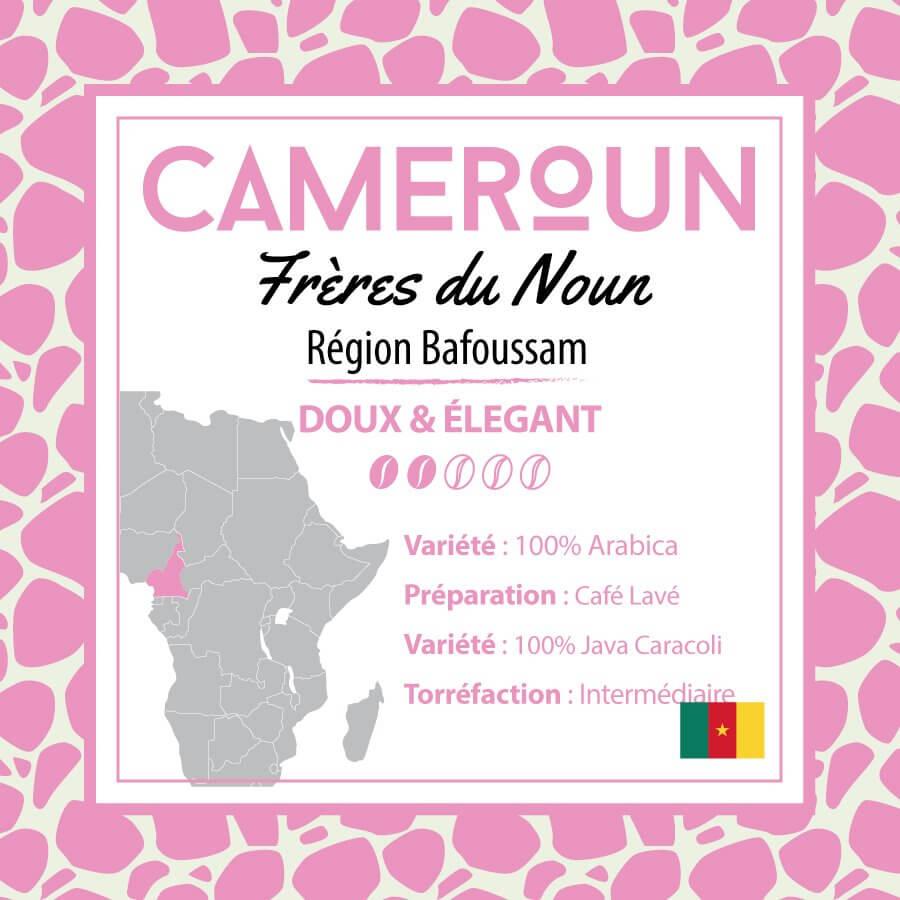 Café en grain CAMEROUN - Frères du Noun - Région Bafoussam