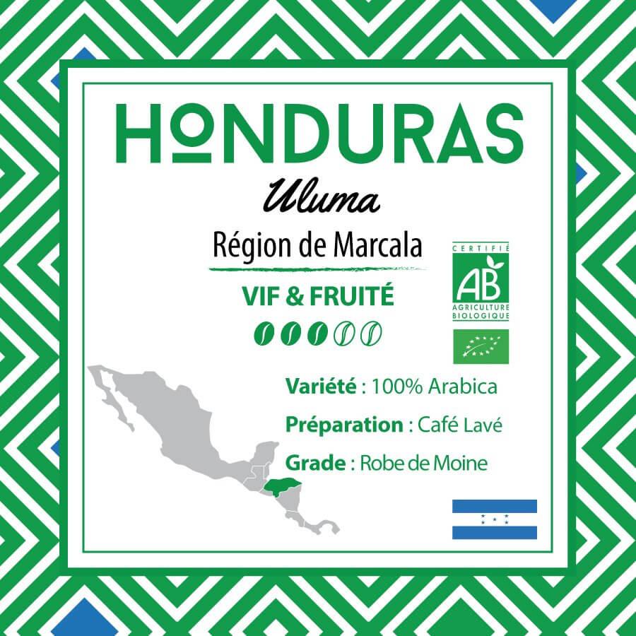 Café en grain HONDURAS - Uluma - Région de Marcala