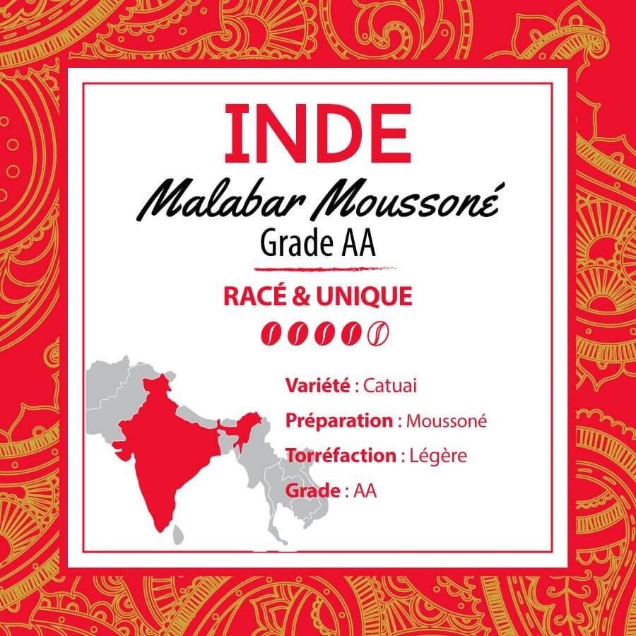 Café INDE - Malabar Moussoné AA - café moulu