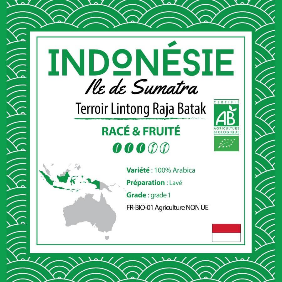 Café en grain INDONESIE - Sumatra Plantation Raja Batak