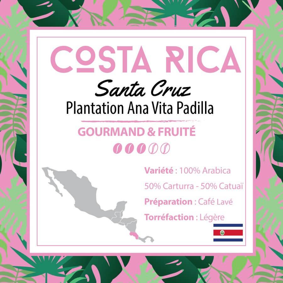Café en grain COSTA RICA - Santa Cruz- Plantation Ana Vita Padilla