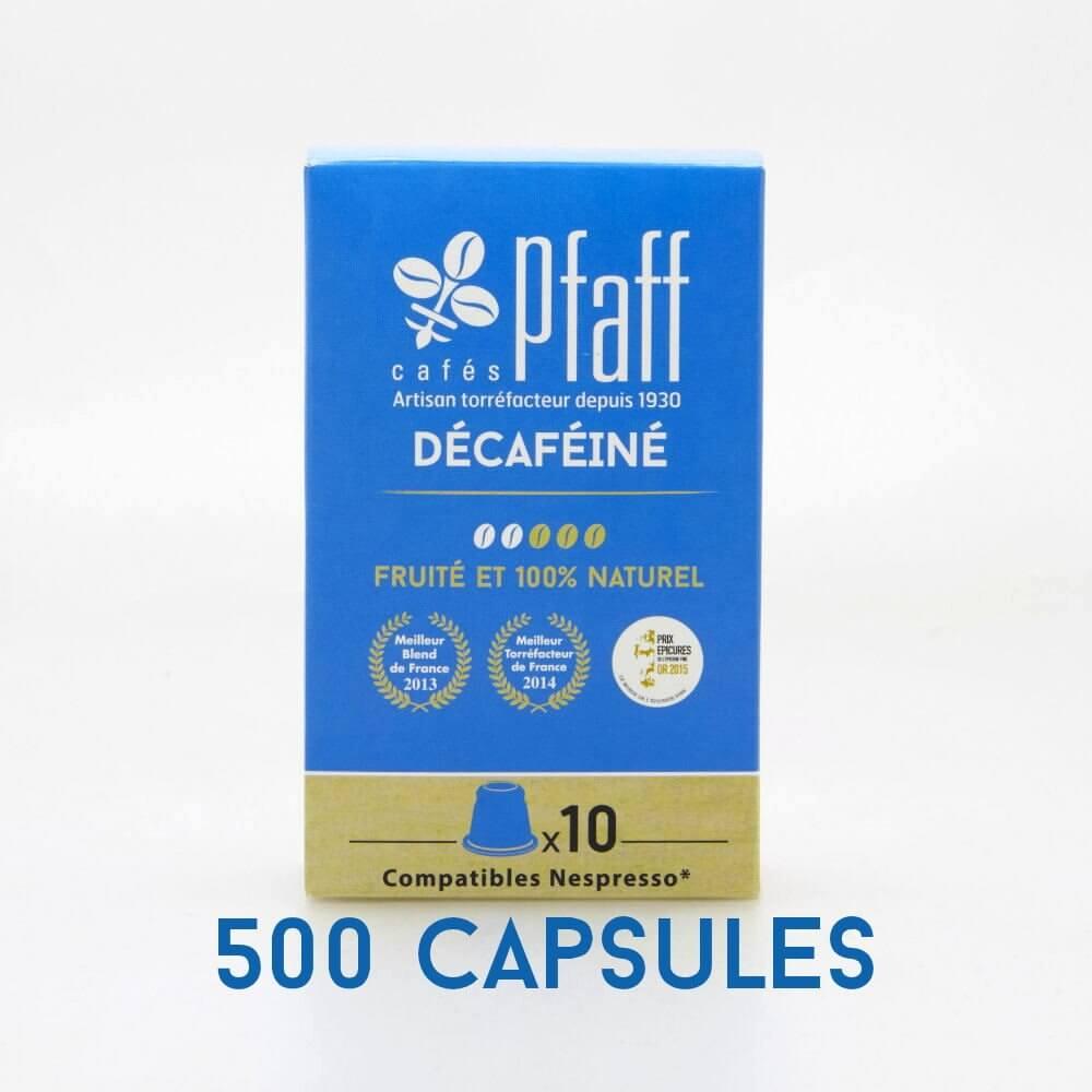 500 capsules DÉCAFÉINÉ compatibles Nespresso®* - carton de 500