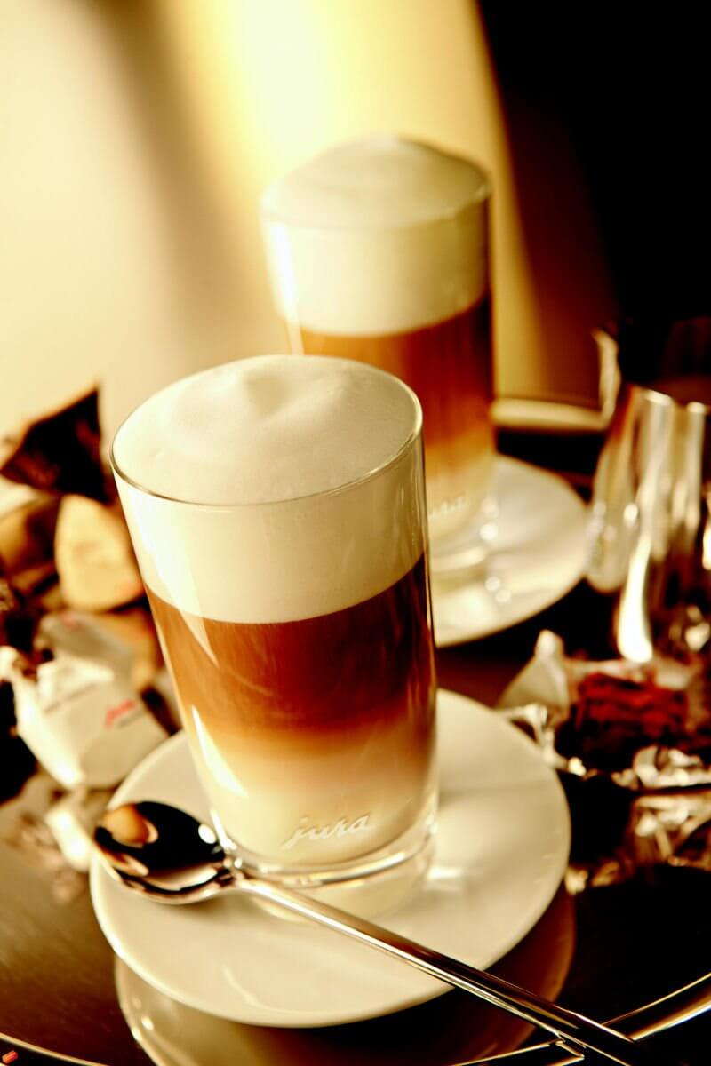 verres latte macchiato jura lot de 2 tasses caf caf s pfaff. Black Bedroom Furniture Sets. Home Design Ideas