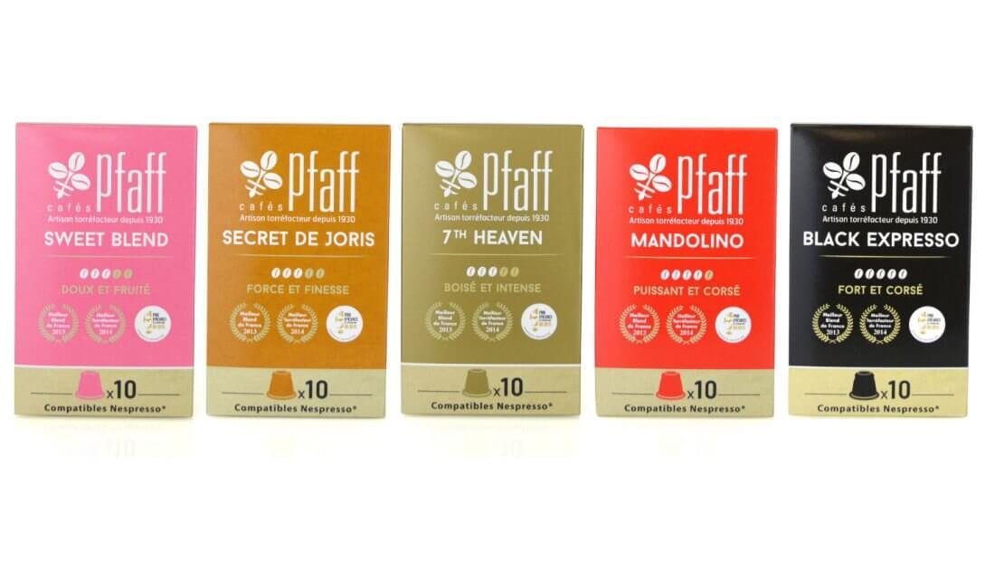 50 capsules compatibles Nespresso® cafés Pfaff - Assortiment Découverte