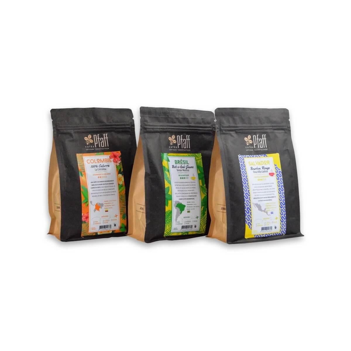 3 cafés d'exception - 3x250 Gr