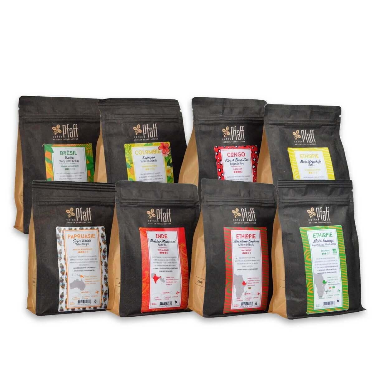 8 cafés gourmets - 8x250 Gr