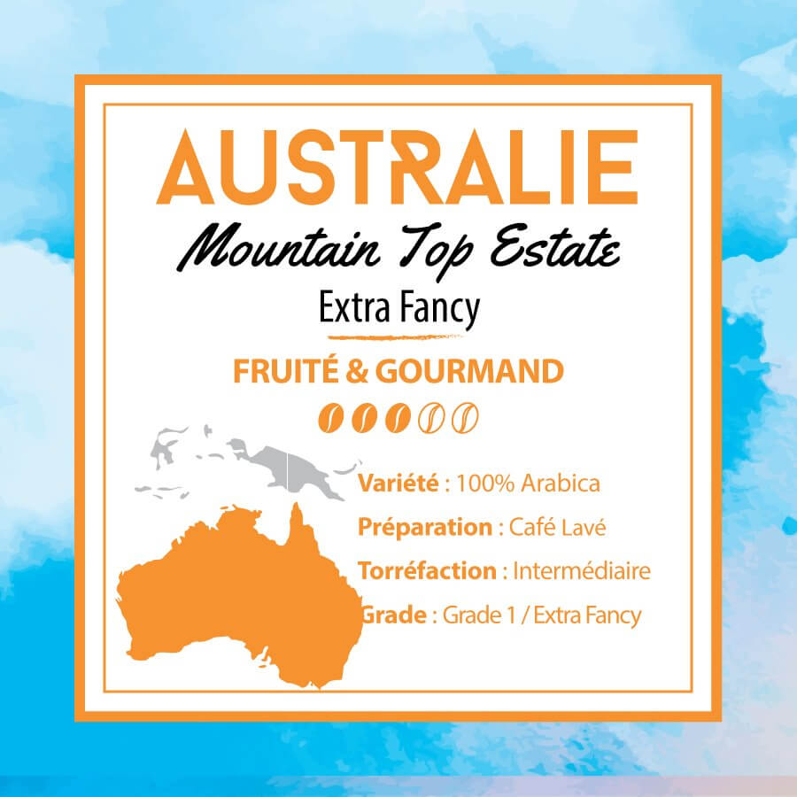 Café AUSTRALIE - Mountain Top Estate - Extra Fancy - café moulu