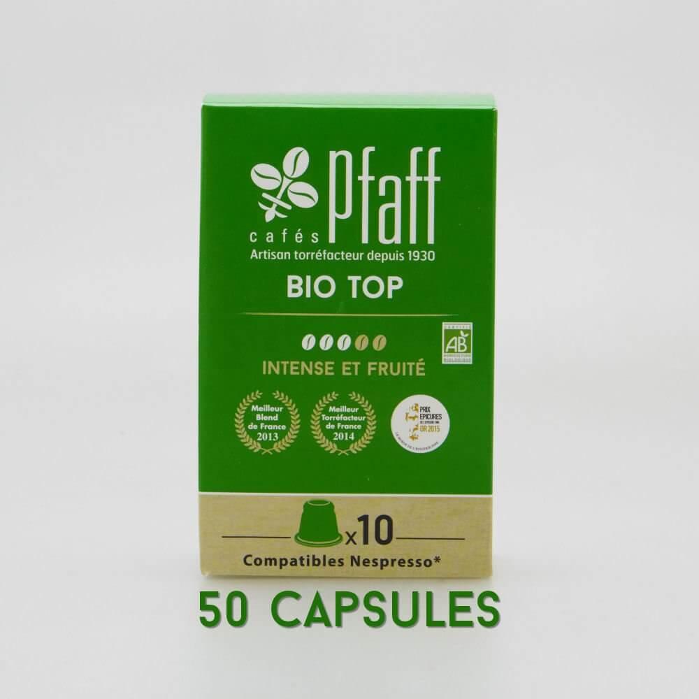 50 capsules Bio Top (bio) compatibles Nespresso®* - 100 % Arabica