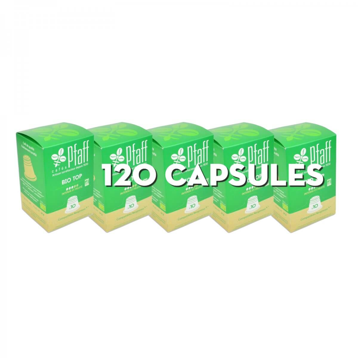 120 capsules Bio Top (bio) compatibles Nespresso®* - 100 % Arabica