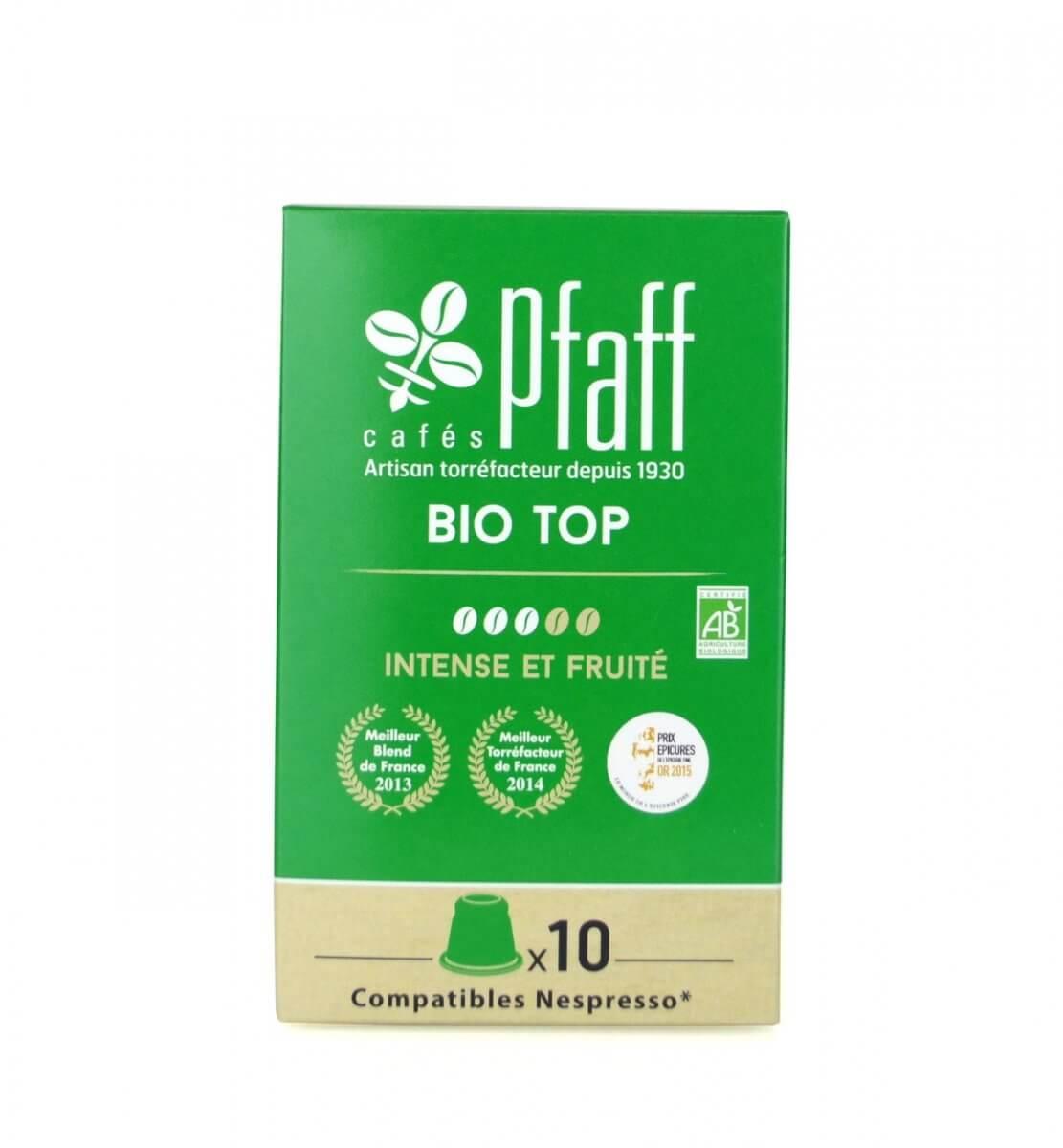 biotop capsules compatibles nespresso cafes pfaff