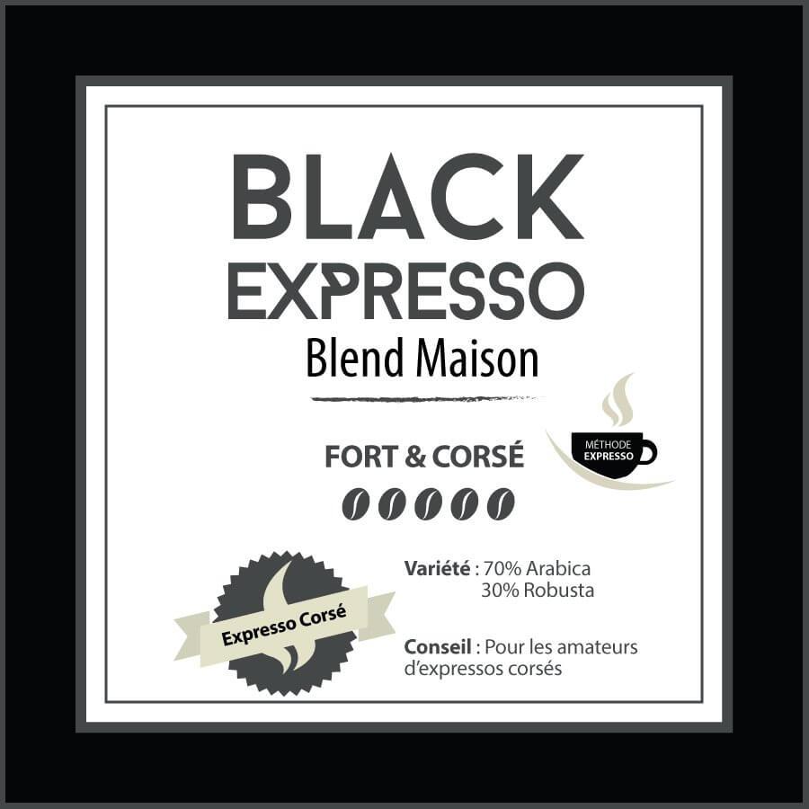 BLEND MAISON - Black Expresso - café en grain