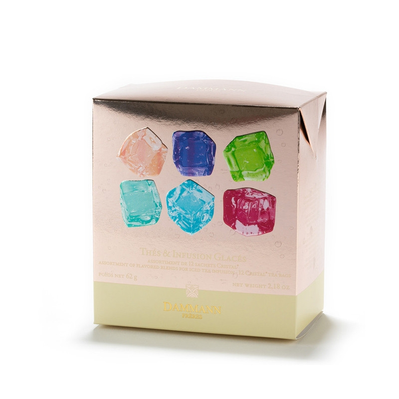 boite assortiment 12 sachets thes infusions glaces