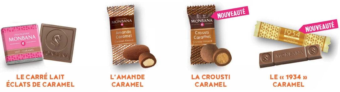 boite ouverte caramel monbana composition
