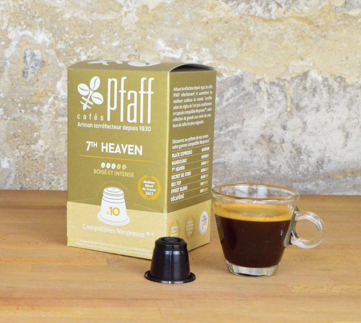 cafe 7th heaven 10 caspules compatibles nesperesso