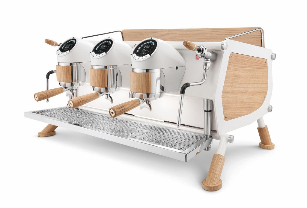 cafe racer sanremo machine expresso white wood slim piatto inox