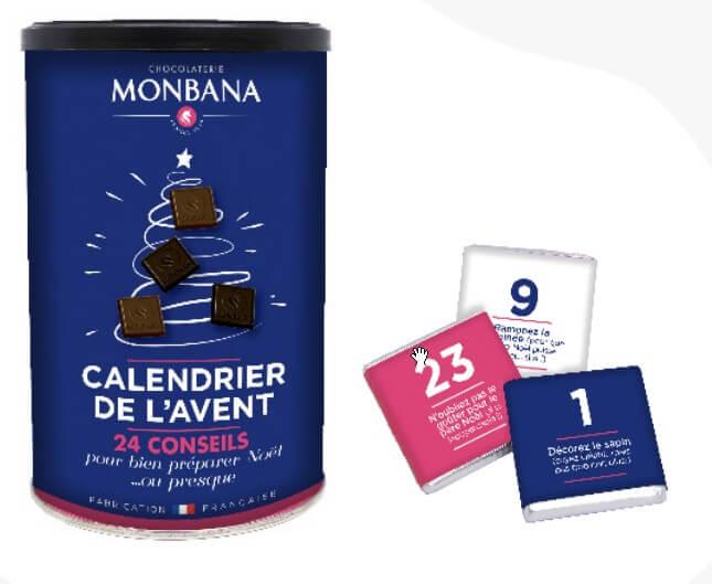 Créer son calendrier de l'avent - 24 gourmandises chocolatées Monbana
