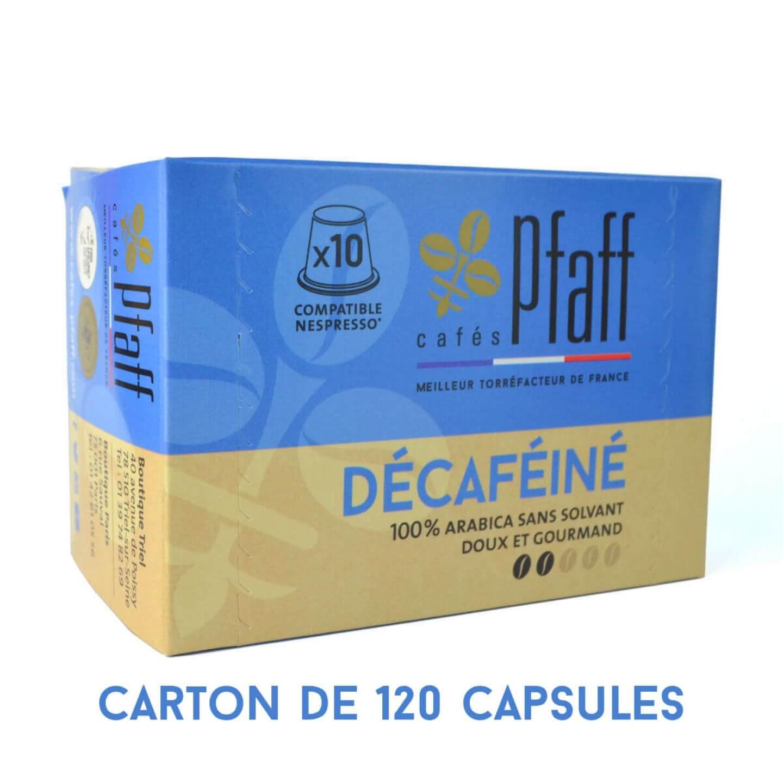 capsules decafeine compatibles nespresso 120