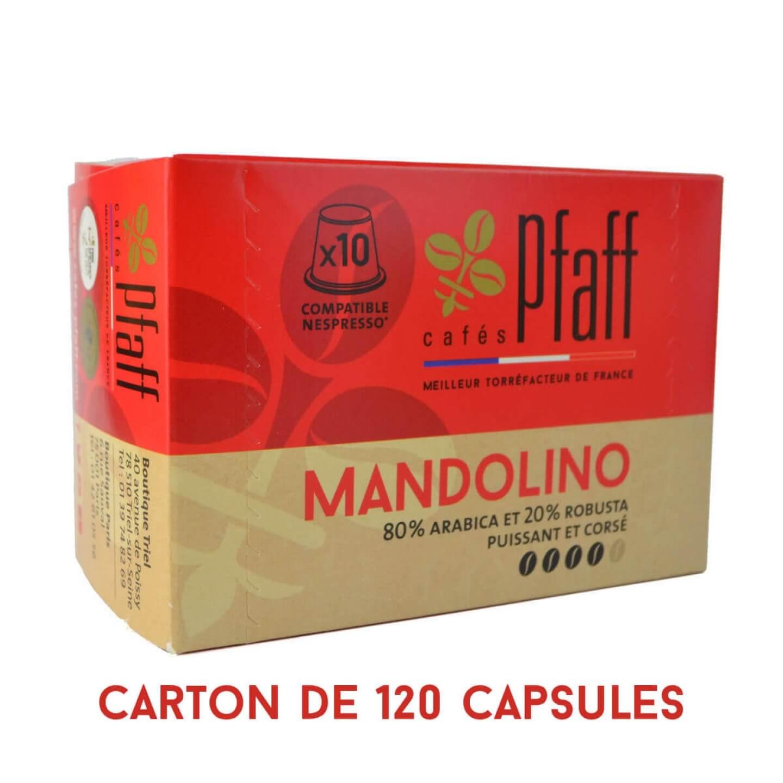 capsules mandolino compatibles nespresso 120