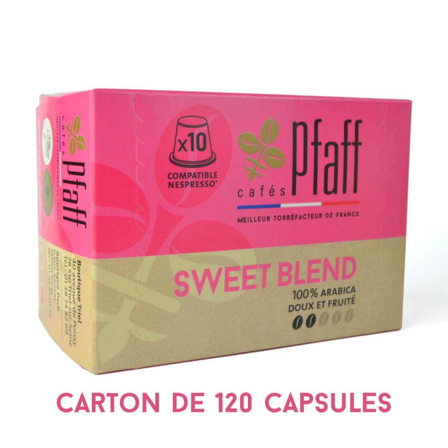 capsules sweet blend compatibles nespresso 120