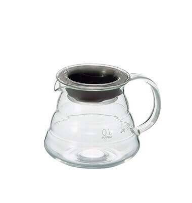 carafe support en verre 1 3 tasses dripper hario