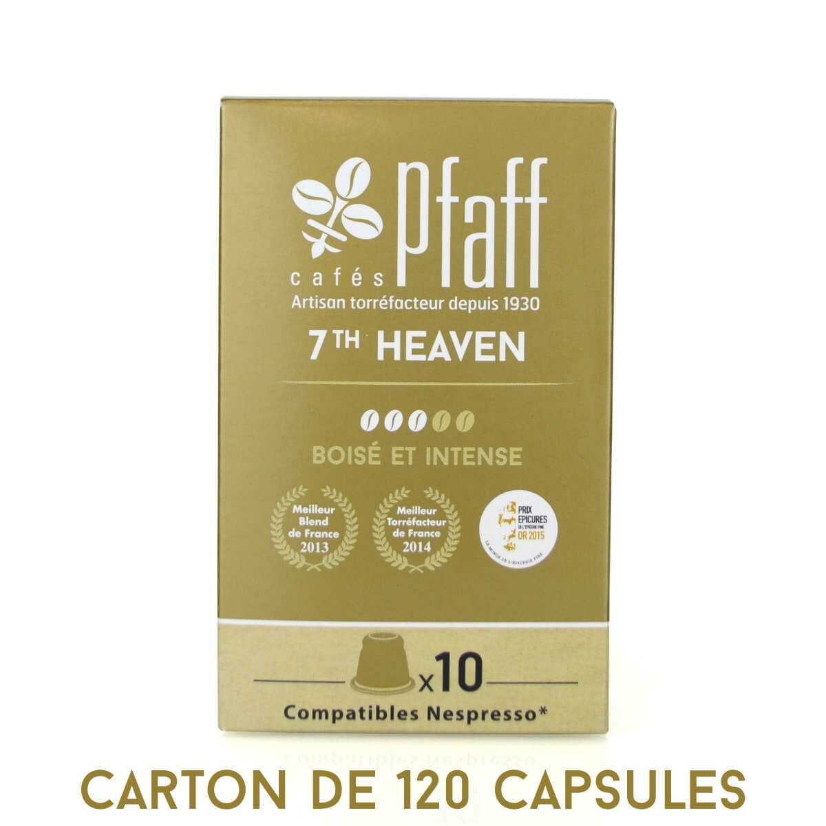 carton 120 capsules 7th heaven compatibles nespresso