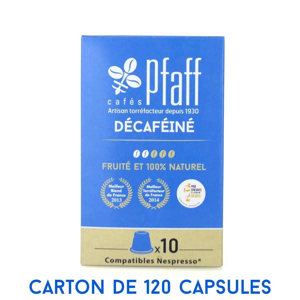 carton 120 capsules decafeine compatibles nespresso