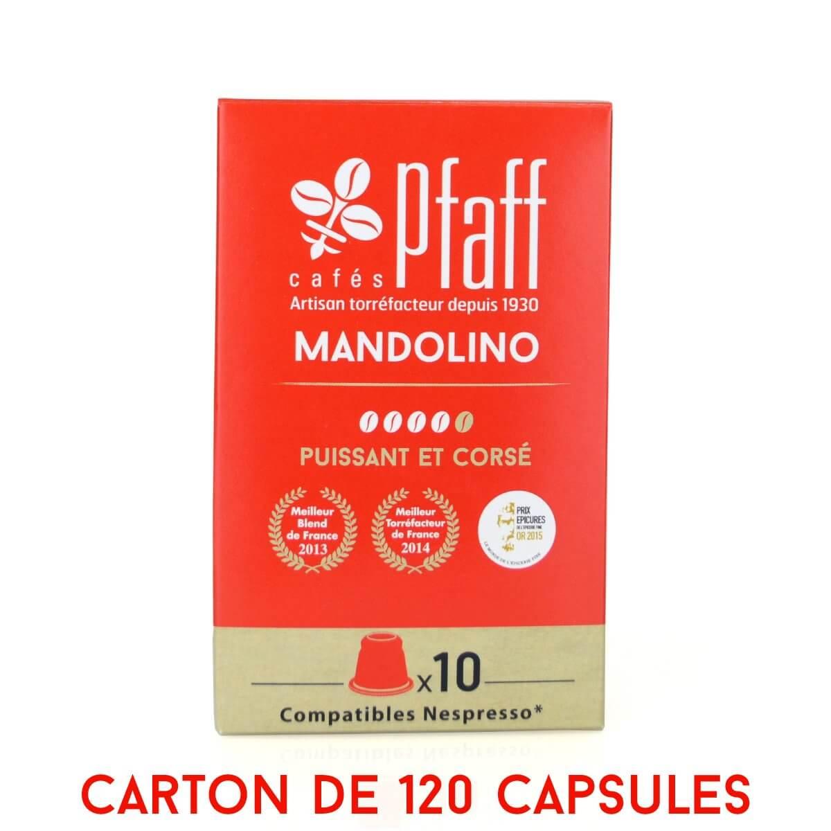 120 capsules MANDOLINO compatibles Nespresso®*
