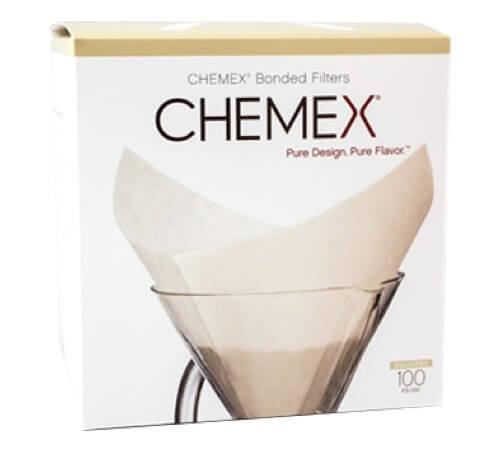 boite de 100 filtres blancs pour cafetière 6 à 8 tasses CHEMEX