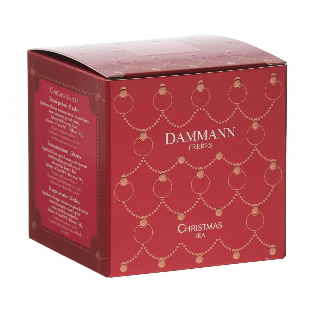 Thé Christmas Tea Dammann - boite 25 sachets Cristal