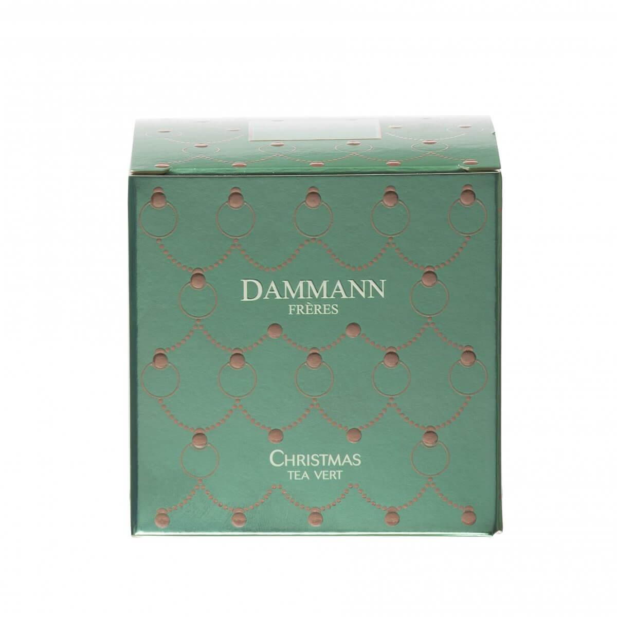 Thé Christmas Tea Vert Dammann - boite 25 sachets Cristal