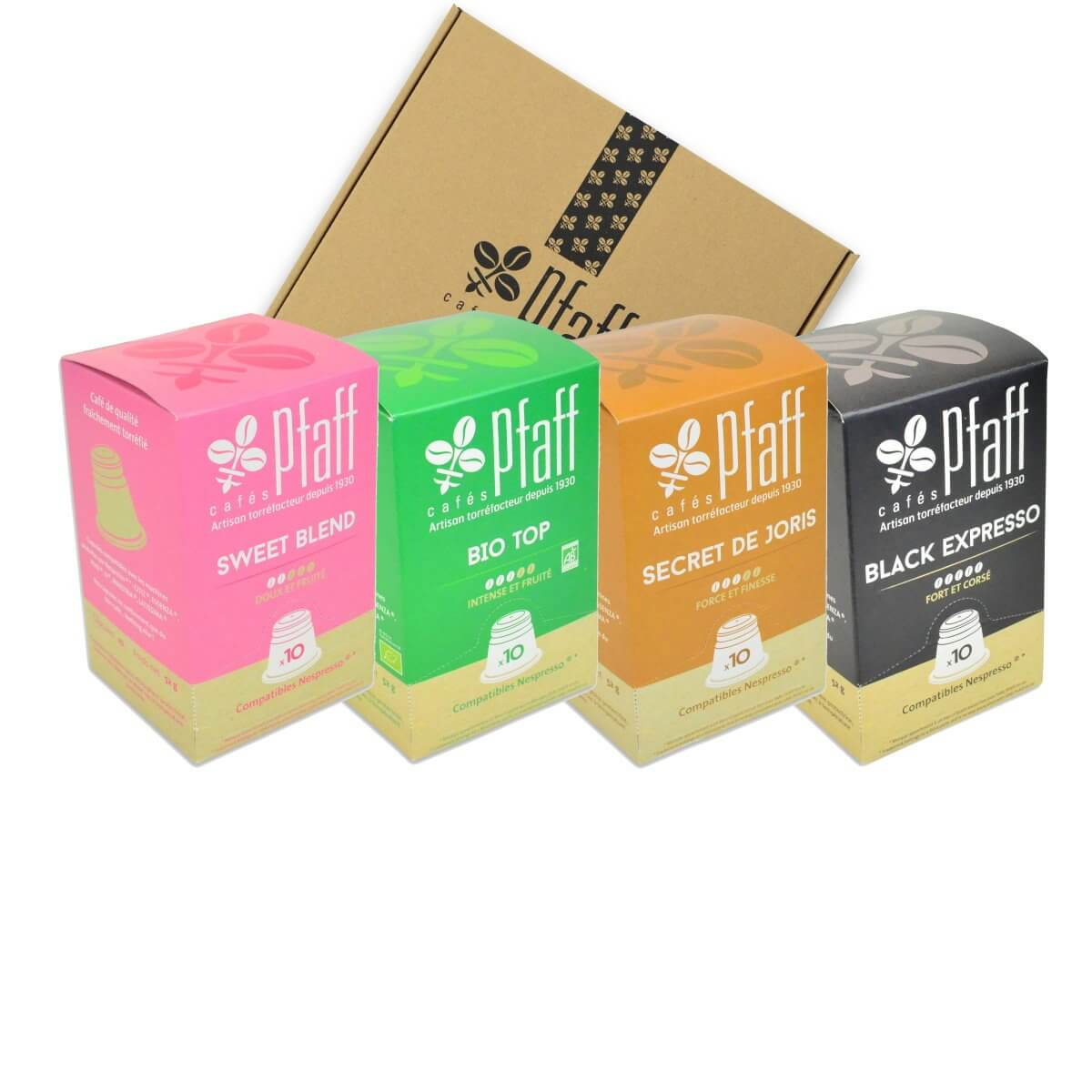 Coffret : Nos capsules compatibles Nespresso®*