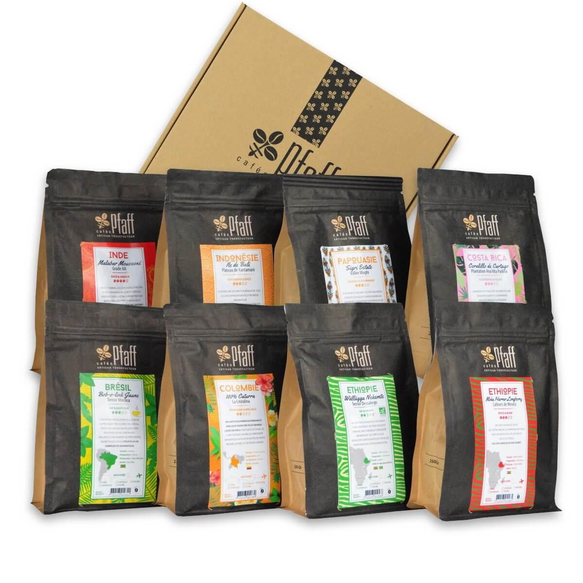 Coffret : La sélection Café  Pfaff - 8x250 Gr