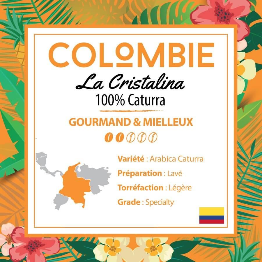 Café en grain COLOMBIE - 100% Caturra - La Cristalina
