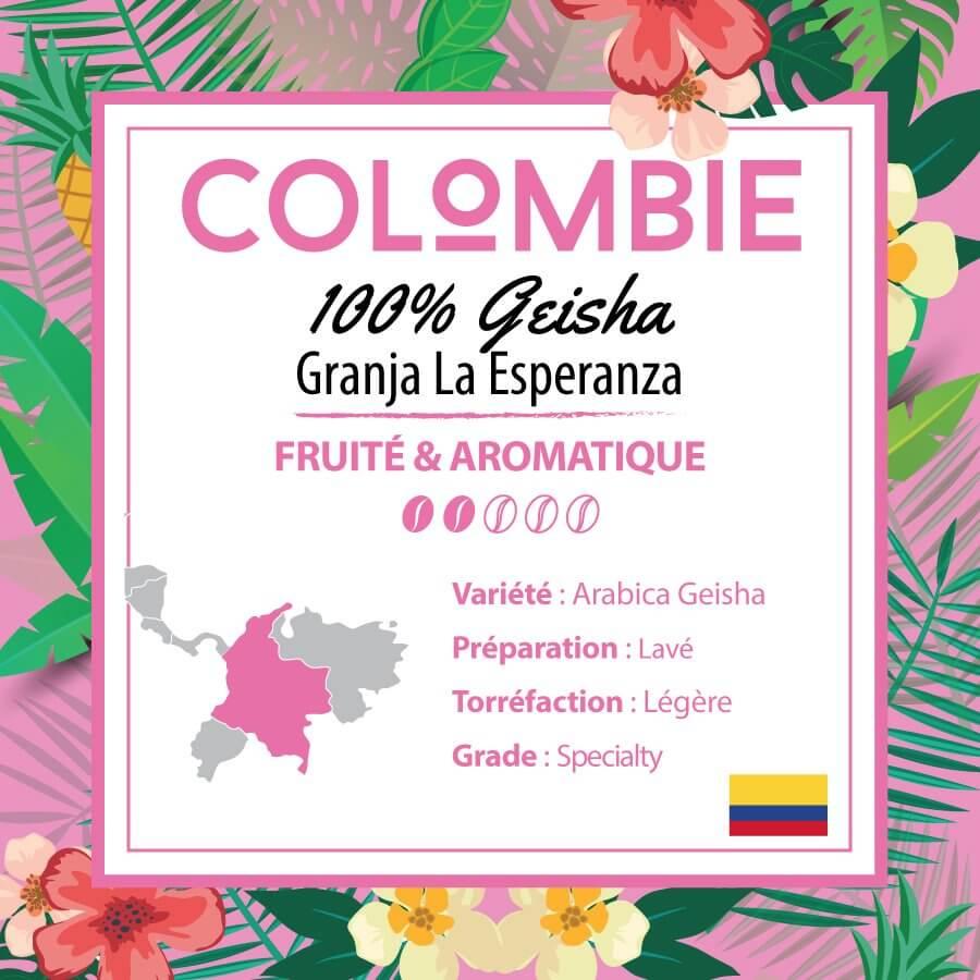 Café COLOMBIE - 100% Geisha - Granja La Esperanza - café moulu