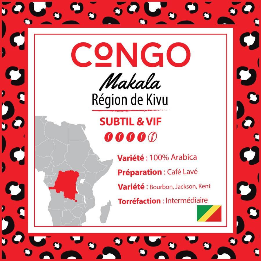 Café CONGO - Makala - Kivu 4 Bord Lac - café moulu