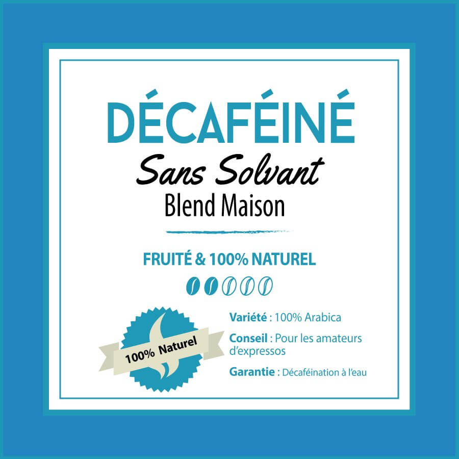 BLEND MAISON - Café Décaféiné - sans solvant - café en grain