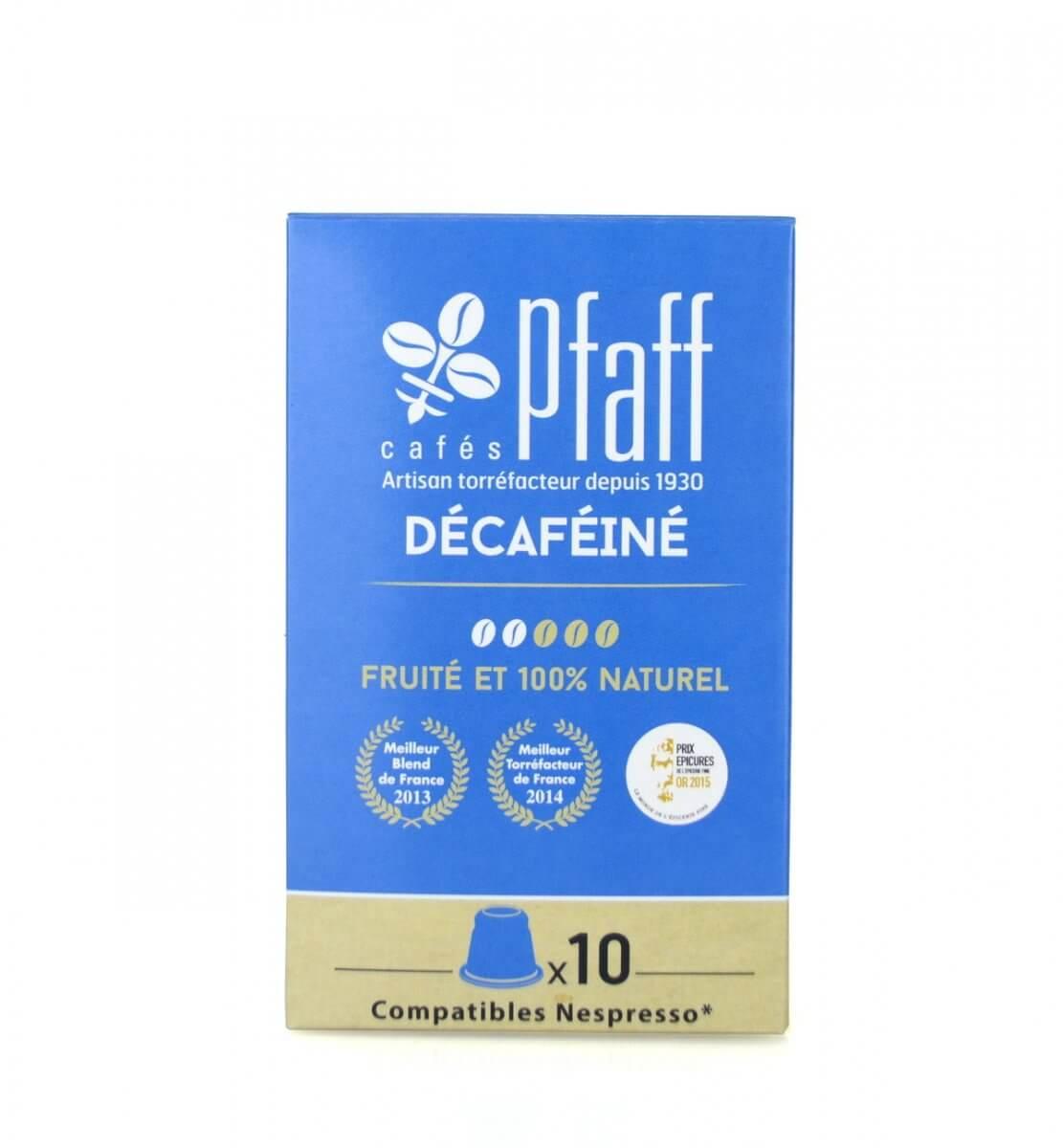10 capsules DÉCAFÉINÉ compatibles Nespresso®*