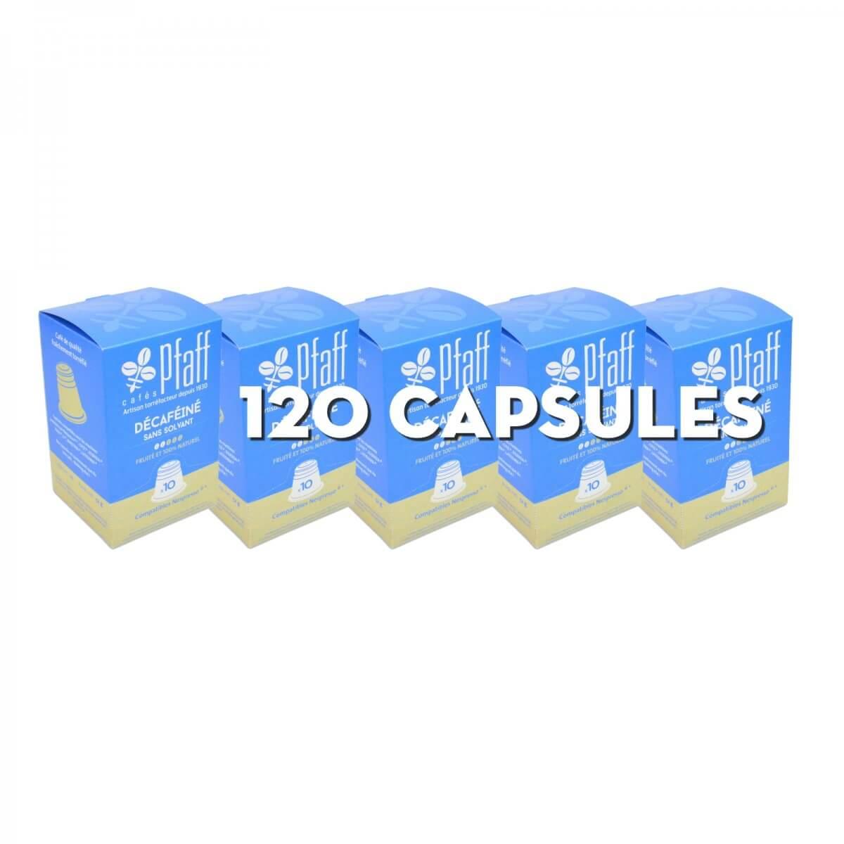 120 capsules Déca (Décaféiné sans solvant) compatibles Nespresso®* - 100 % Arabica