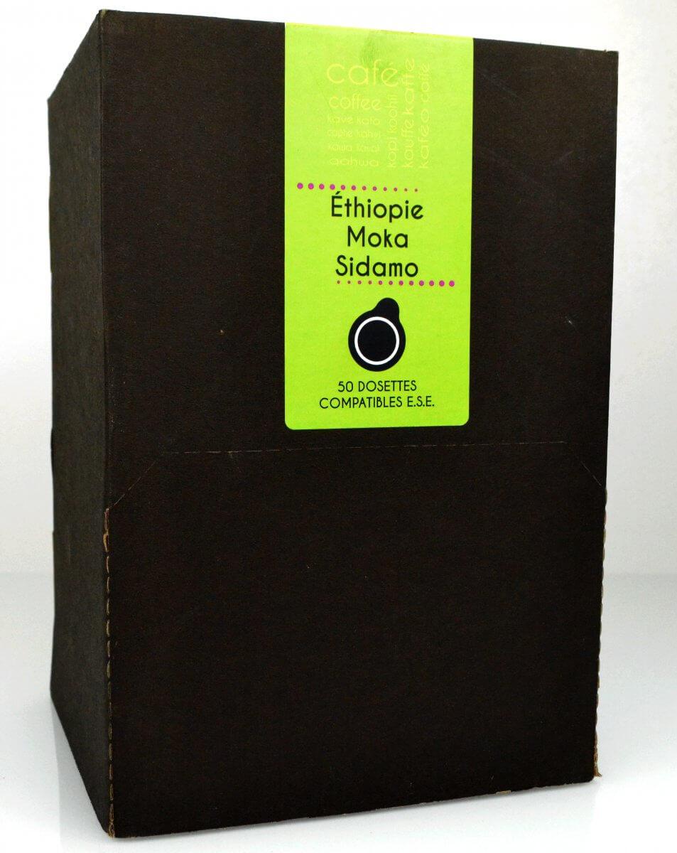 dosette boite50 ethiopie moka sidamo senseo compatible
