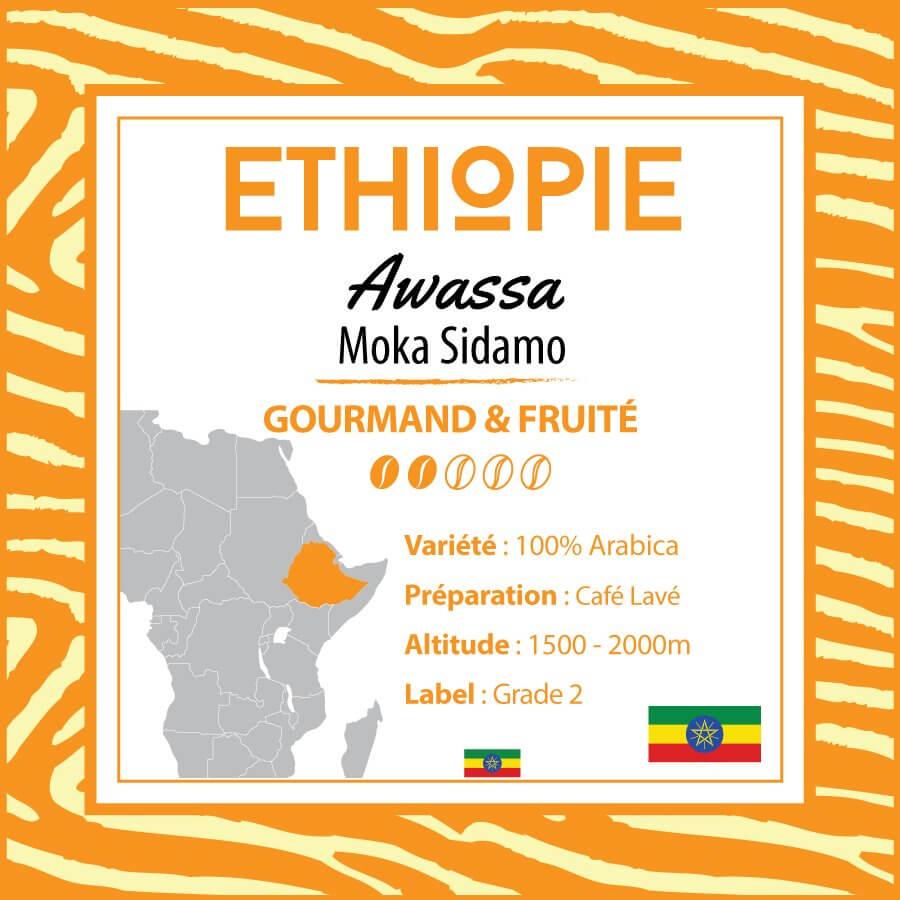 Café ETHIOPIE - Awassa - Moka Sidamo- café moulu