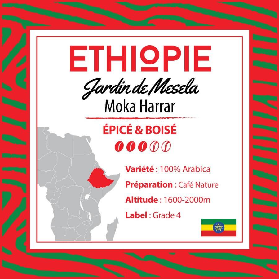 Café ETHIOPIE - Jardin de Mesela - Moka Harrar - café moulu