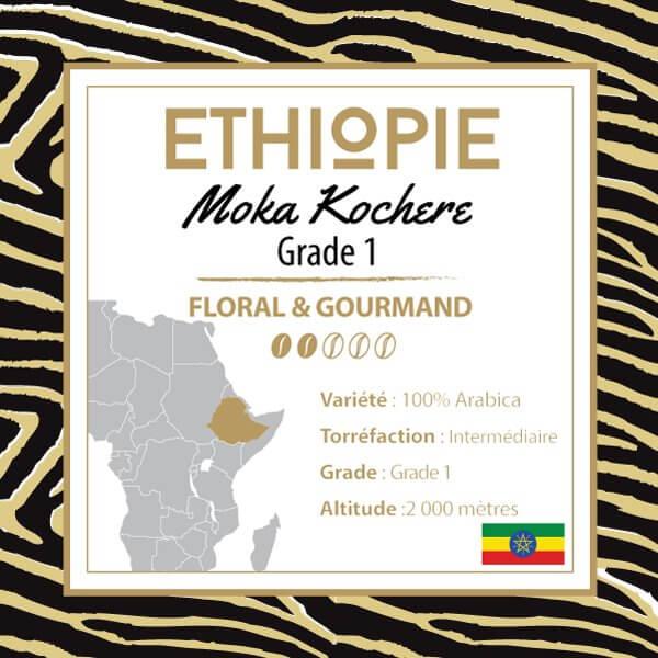 Café en grain ETHIOPIE - Moka Yrgachefe Kochere Grade 1
