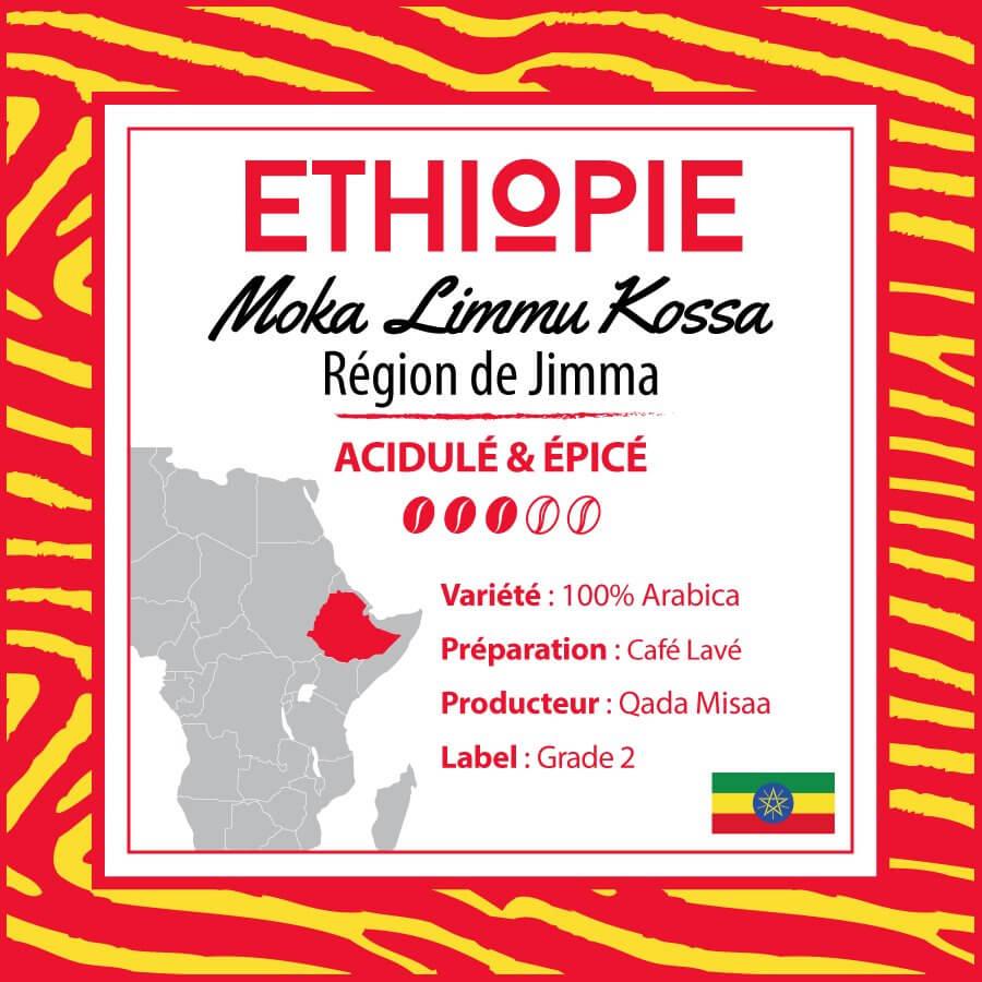 Café en grain ETHIOPIE - Limmu Kossa - Région Jimma