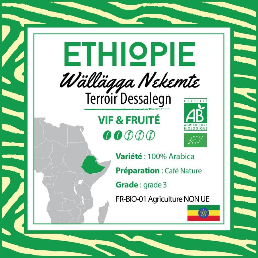 Café en grain ETHIOPIE - Wallagga Nekemte - Terroir Dessalegn