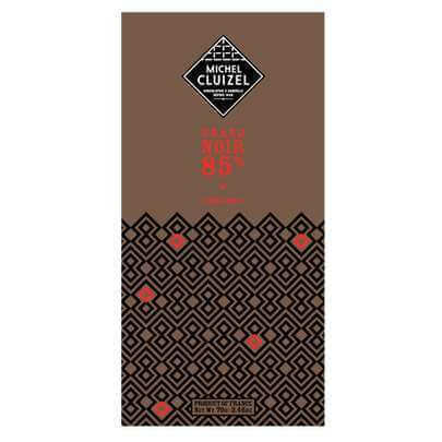 Tablette Grand Noir 85% - grande teneur - chocolatier Cluizel