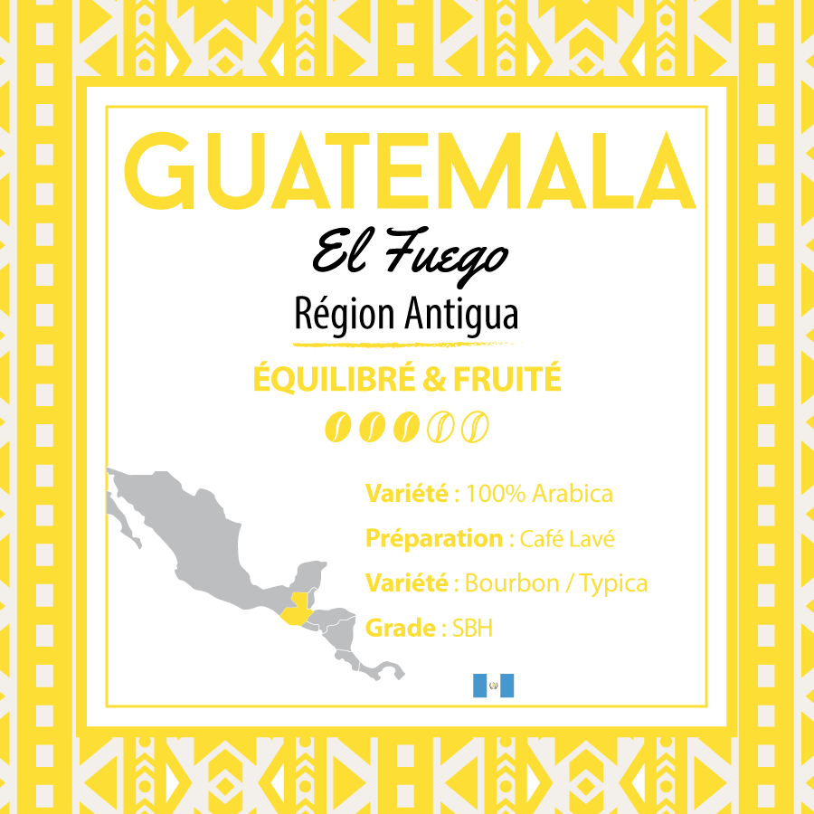 Café GUATEMALA - Antigua - El Fuego - café moulu