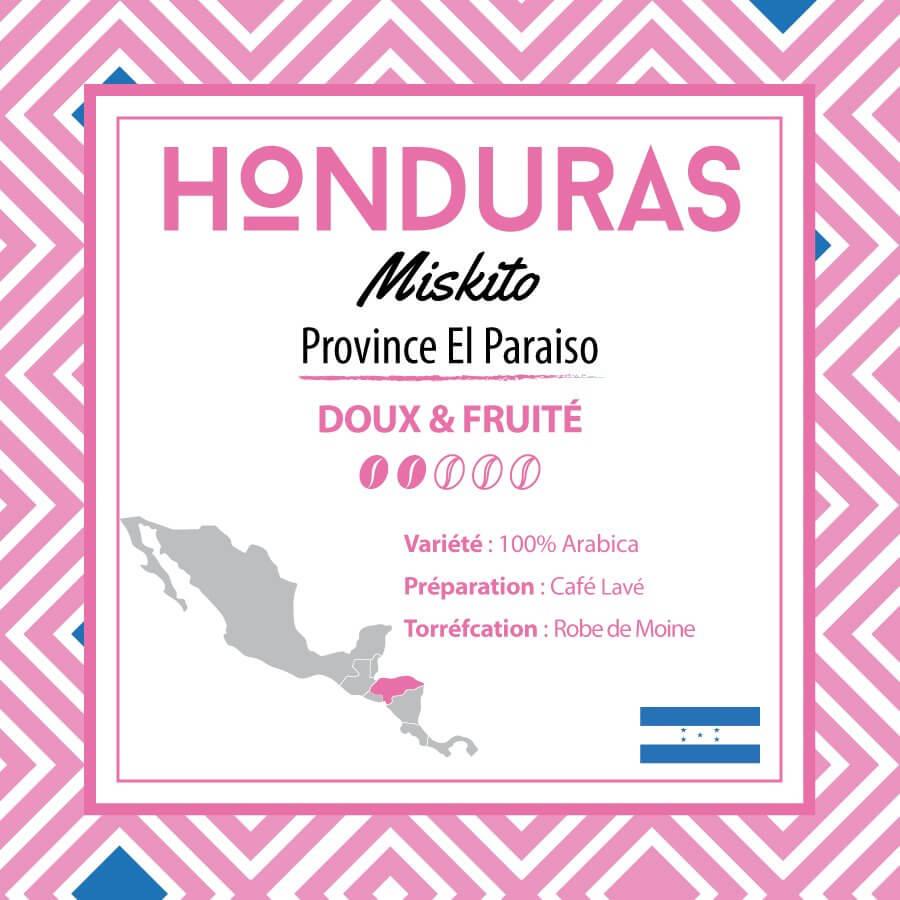 Café en grain HONDURAS - Miskito - Province El Paraiso