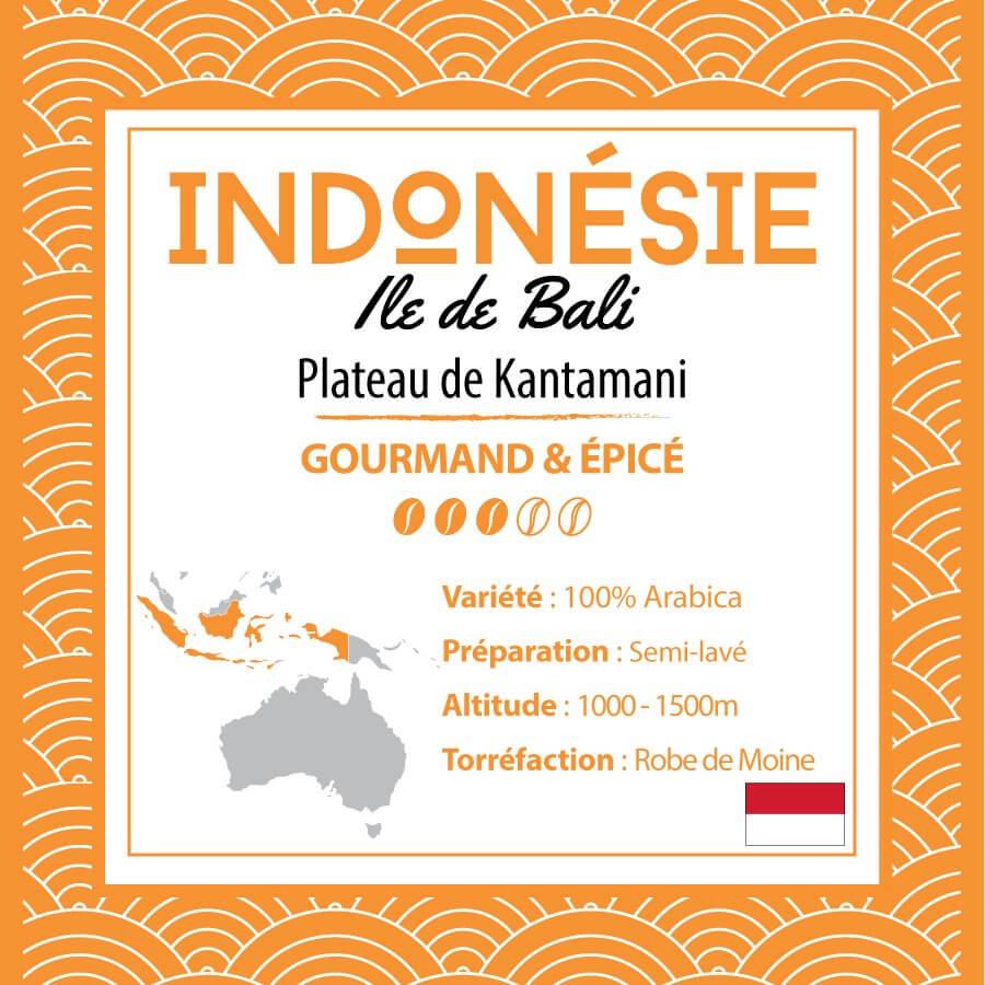 Café INDONESIE - Ile de Bali - Plateau de Kintamani - café moulu