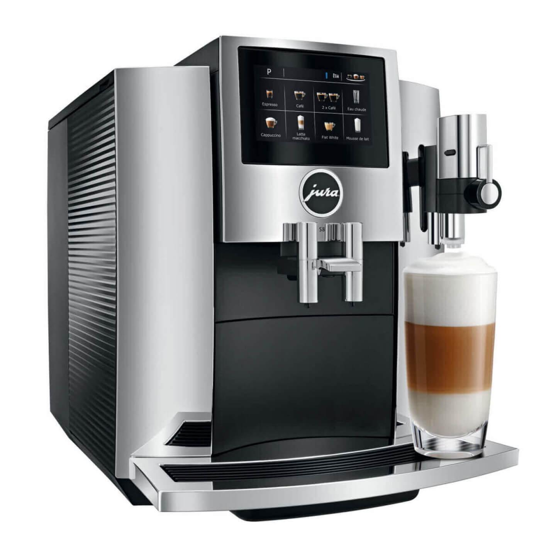 jura s8 chrome smart connect machine caf. Black Bedroom Furniture Sets. Home Design Ideas