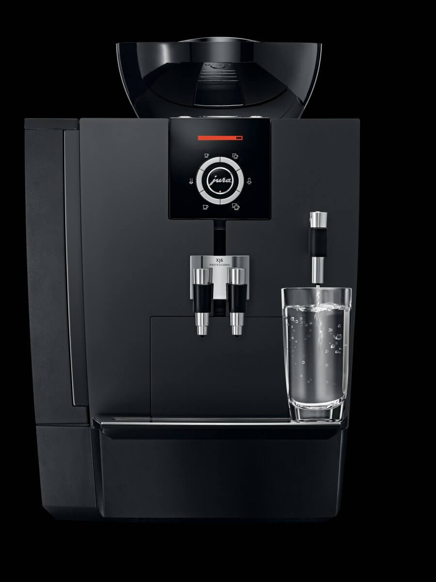 Jura xj6 aroma full black professional machine caf for Materiel professionnel cafe